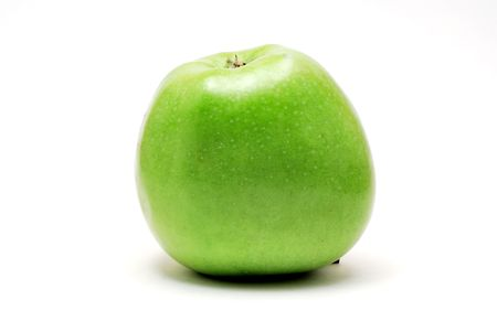 Big green apple isolated on white background