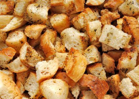 croutons closeup