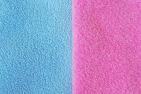Blue and pink fleece (background, texture, decoration)