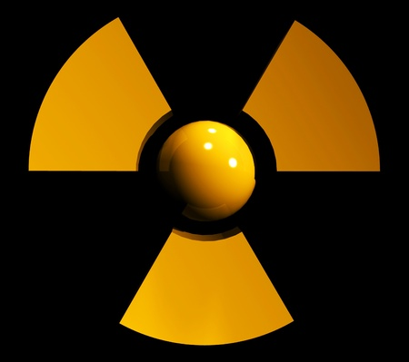 sign of radiation Stock Photo - 11386217