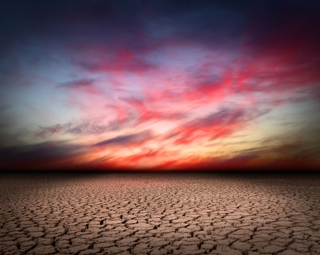 eroded: Drought cracks Stock Photo