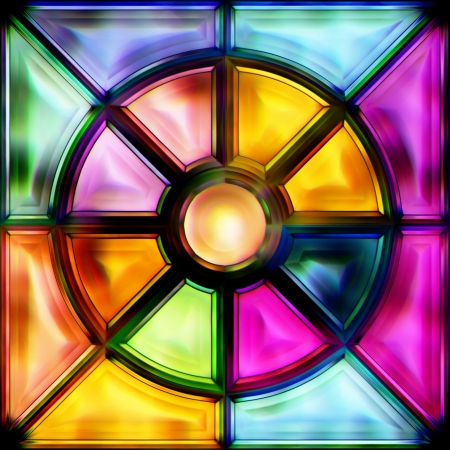 pane: stained-glass window