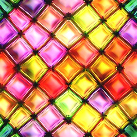 large group of object: Seamless texture of abstract bright shiny colorful geometric shapes