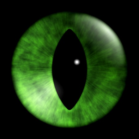 night vision: texture of cat eyes on a black background
