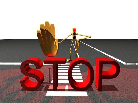 paso de peatones: paso de peatones roja del semáforo semáforo señal de stop