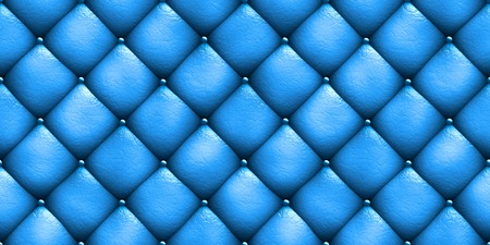 texture leather: Seamless texture leather upholstery sofa blue 3D illustration