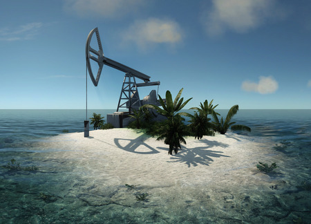 energy channels: Island in the ocean and the oil pump
