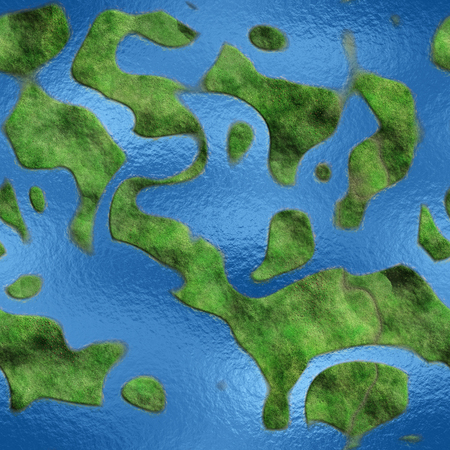 sea view: Seamless Texture Earth abstract land and sea 3D illustration Stock Photo
