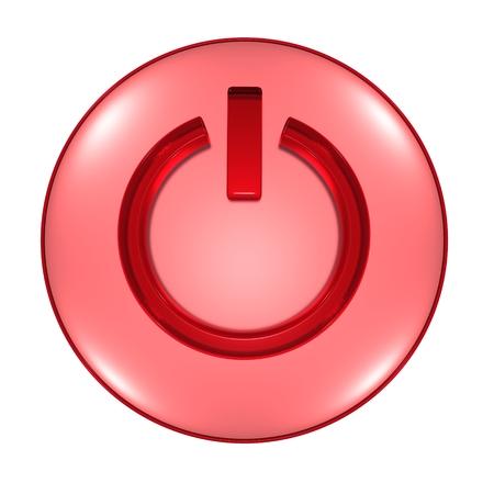 Power button objects 3D illustration symbol technology