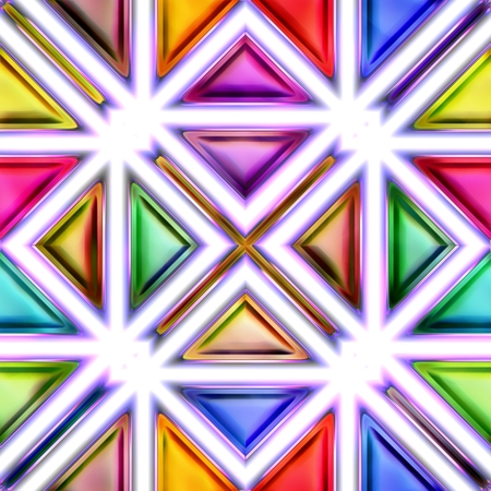 isolation: Seamless texture of abstract bright shiny colorful geometric shapes. Isolation on a white background