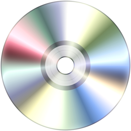 blu ray: CD disk isolated on White 3D illustration