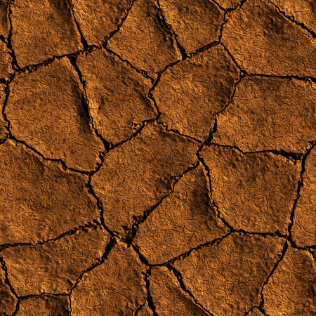 eroded: Seamless Texture earth cracked because of drought 3D illustration Stock Photo