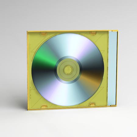 cd case: optical CD plastic box case 3D illustration Stock Photo