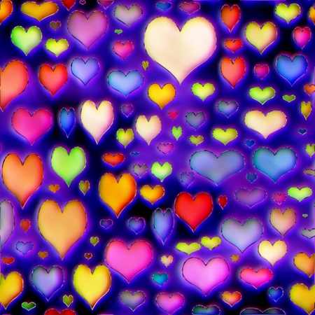 aciculum: Colorful hearts texture love colored abstract illustration Stock Photo