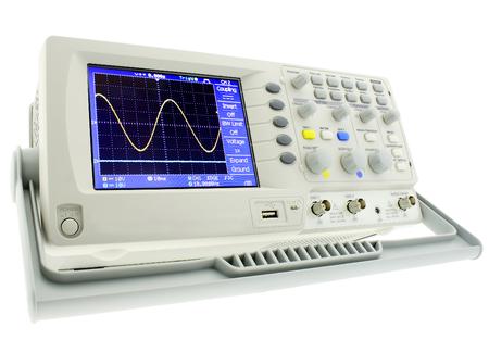 デジタル研究所オシログラフは、白い背景で隔離。