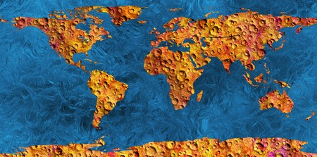 lifeless: lifeless land an abstract map of the earth Stock Photo