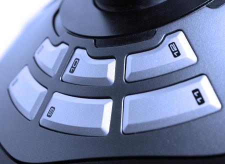 xbox: Close Up Of A Grey buttons close-up joystick Stock Photo