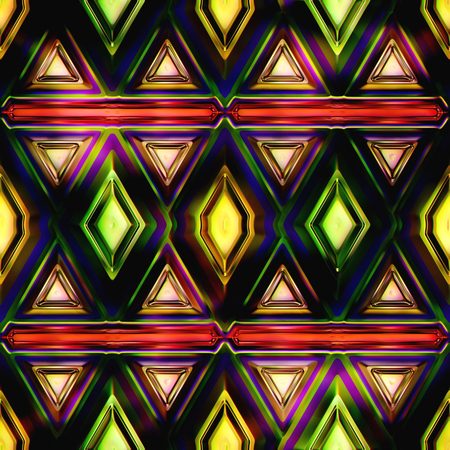 panes: Seamless Texture stained glass window 3D illustration Stock Photo