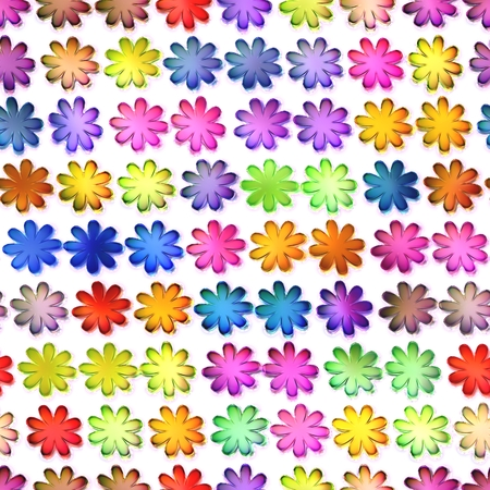 isolation: Seamless colorful flowers texture, Isolation on a white background.