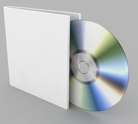 compact disk on a gray background