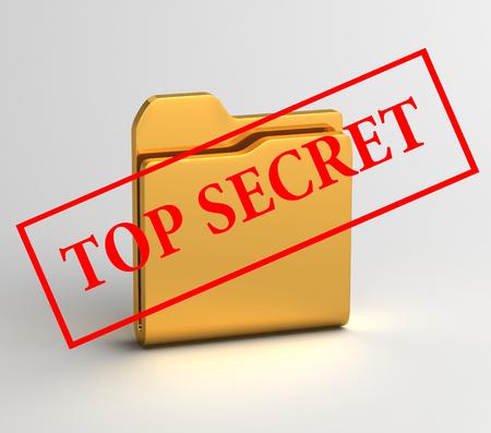paranoia: secret files 3D illustration