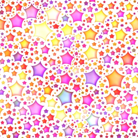 Seamless texture of abstract bright shiny colorful stars,