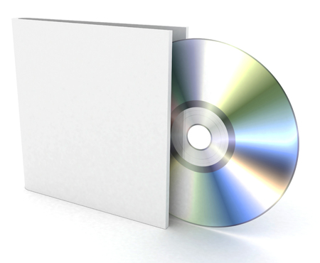compact disk on a white background Stock Photo