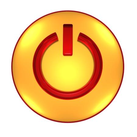 電源ボタンの 3 D 図