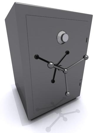 gray safe 3D illustration