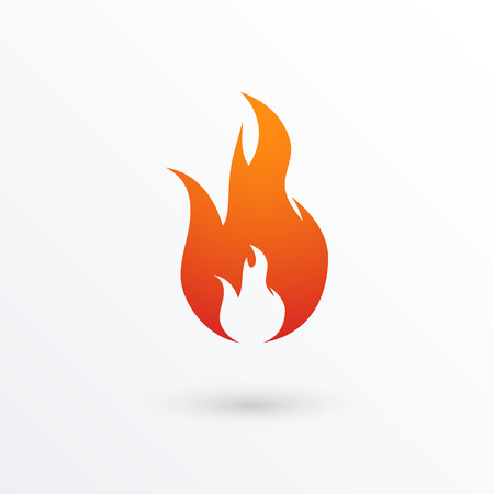 Fire flames icon, illustration