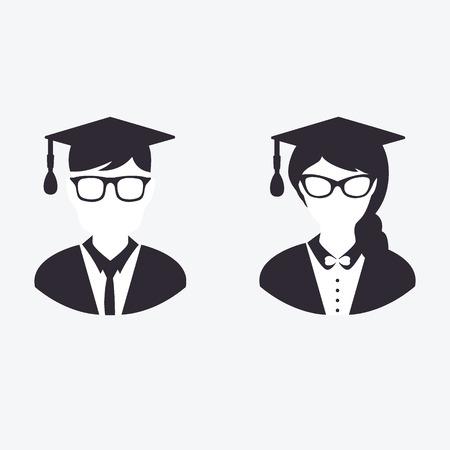 valedictorian: Graduation Icon Illustration
