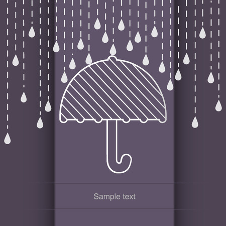 raining: Raining on a umbrella illustration
