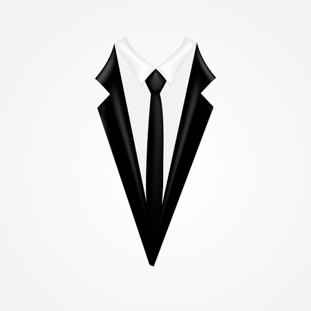 coat: Tuxedo vector with tie Illustration