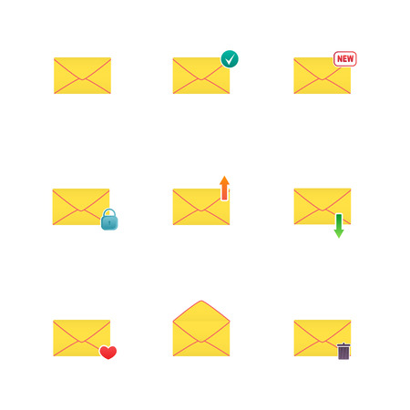 Set of icons for messages. Vector illustration. Illustration