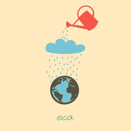 floating in water: World day water. Globe floating on the water.