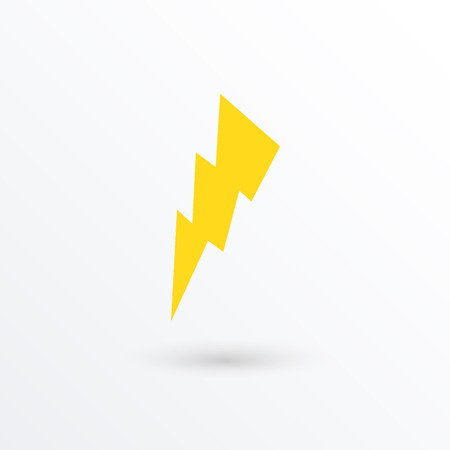 Vector lightning icon  vector illustration