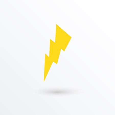 lightning arrow: Vector lightning icon  vector illustration