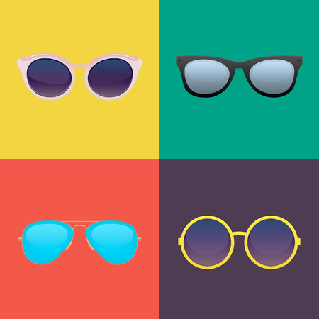 eye shade: Sunglasses set vector