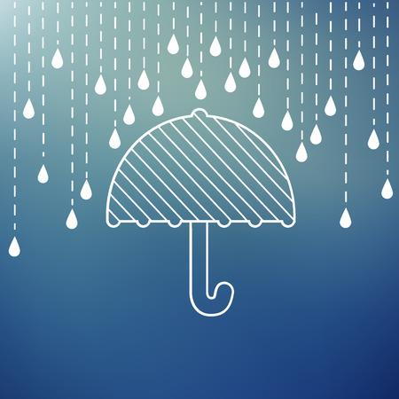 umbrella rain: Raining on a umbrella