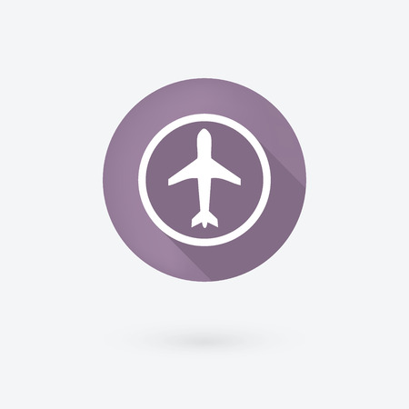Airplan icon. Isolated on white.