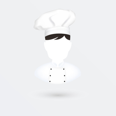 specialities: Chief cook vector icon. Isolated on white.