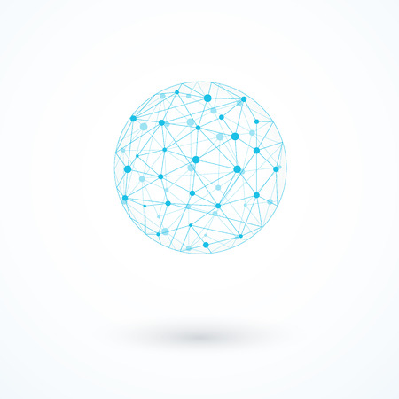 Global network icon vector illustration Stock Vector - 36149696