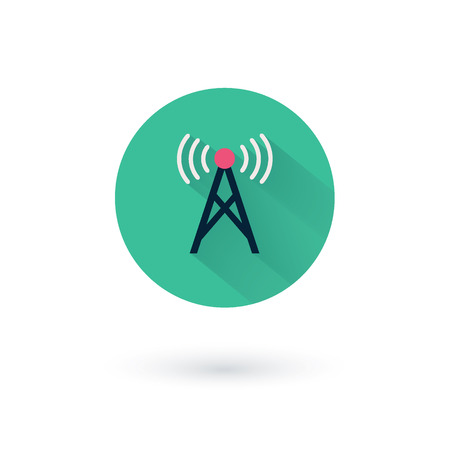 remote access: Vector wifi icons for remote access and communication via radio waves