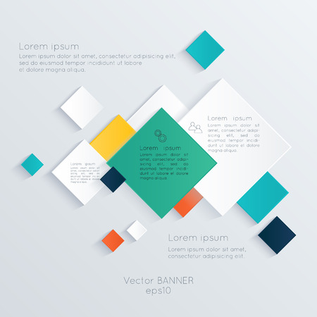 Abstract digital illustration Infographic. Vector illustration can be used for workflow layout, diagram, number options, web design. Vector
