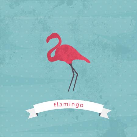 flamingos: Flamingo vectorillustration