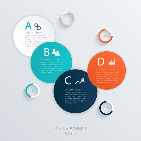 business tool: Vector colorful info graphics for your business presentations. Can be used for info graphics, graphic or website layout vector, numbered banners, diagram, horizontal cutout lines, web design.