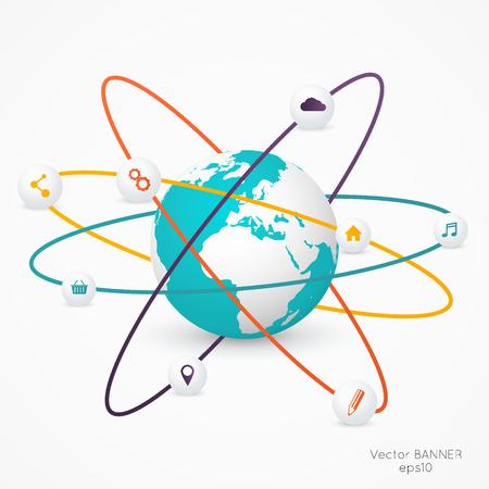 Résumé illustration numérique 3D Infographie. Vector illustration peut être utilisé pour la mise en page flux de travail, diagramme, les options numériques, conception de sites Web. Banque d'images - 36273504