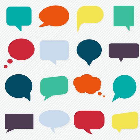 voice: Speech bubbles set