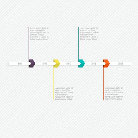 Minimal infographics design. Vector can be used for workflow layout, diagram, number options, web design. Ilustração