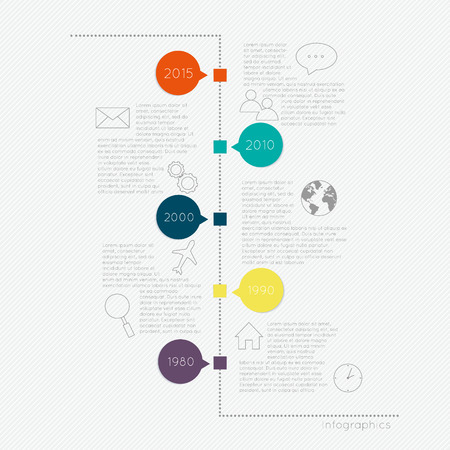S Timeline Infographic Design Templates. Charts, Diagrams and other Vector Elements for Data and Statistics Presentation